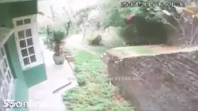 ویدئوی دوربین های مداربسته از زلزله نپال