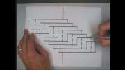 آموزش ساخت طرح سه بعدی روی کاغذ