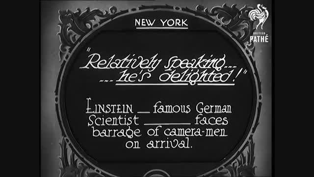 سفر انشتین به آمریکا - 1930