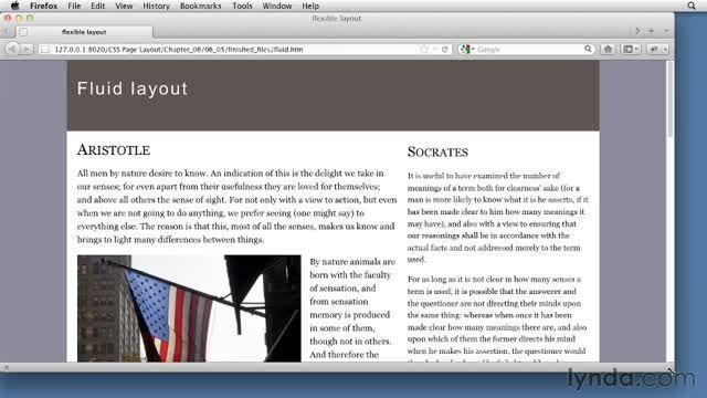 فیلم آموزش Designing with Flexible  - CSS: Page Layouts