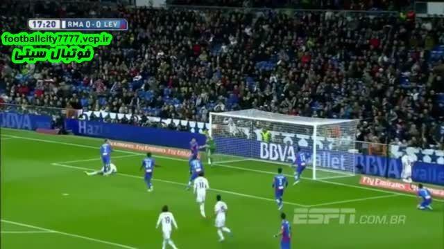 خلاصه بازی رئال مادرید 2 - 0 لوانته (لالیگا اسپانیا)