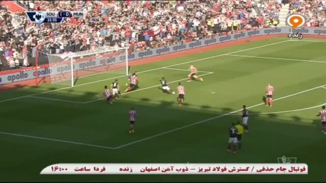 گل آنتونی مارسیال؛ ساوتهمپتون (1)-منچستر یونایتد (1)