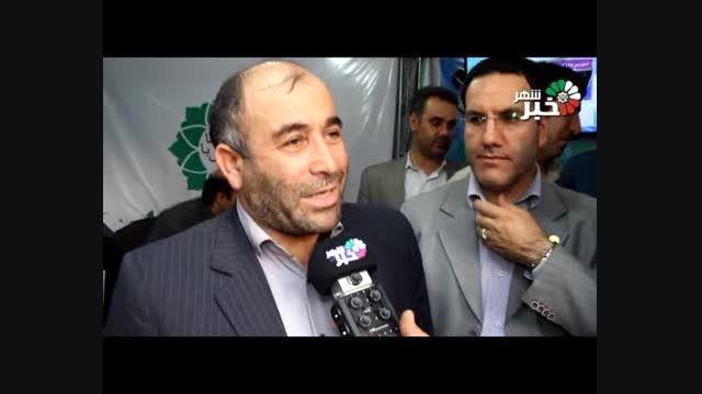 رئیس شورای شهر باغستان در نمایشگاه دستاوردهای دولت