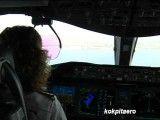 لحظات فرود بوئینگ 787 در فرودگاه استانبول - فیلمبرداری از کابین خلبان