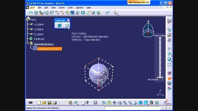 طراحی لیوان در محیط Imagine and Shape نرم افزار CATIA