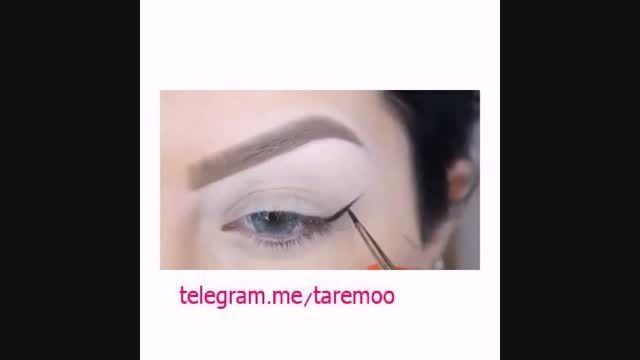 آموزش آرایش چشم با خط چشم و سایه در تارمو