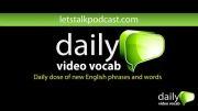 کلمات انگلیسی روزانه اپیسود 1