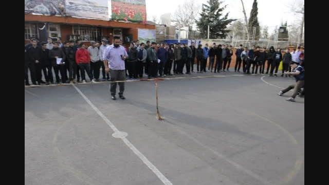 مسابقات طناب کشی جشنواره ورزشی دبیرستان سلام تجریش