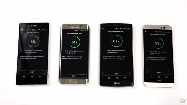 Galaxy S6 Edge vs Xperia Z3+ vs G4 vs One M9_Benchmark