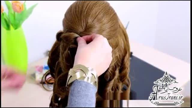 آموزش کامل مدل مو 26 - مدل موی عروس برای موهای متوسط