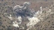 بمباران مواضع طالبان با بمب های JDAM توسط نیروهای امریکایی