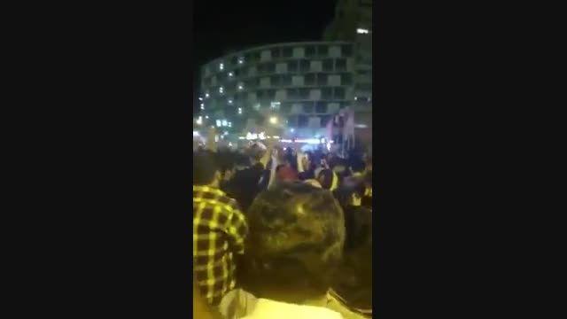 مراسم جشن هسته ای در میدان ولیعصر