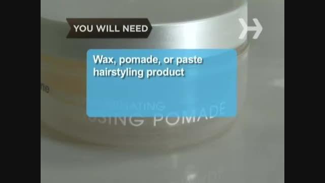 آموزش حالت دادن به مو با واکس مو