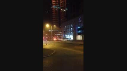 آتش سوزی مهیب یک آسمان خراش در دبی 1