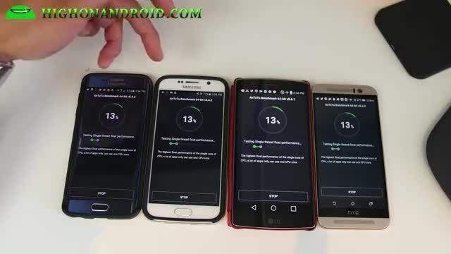 تست بنچمارک ؛ S6 vs S6 Edge vs HTC One M9 vs G Flex 2