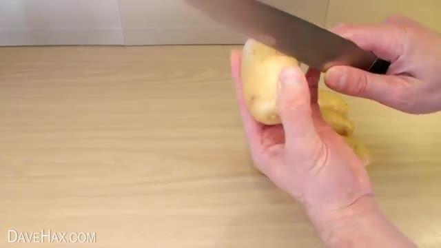 پوست کندن سیب زمینی فوق العاده سریع