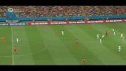 هلند - کاستاریکا(نیمه اول)، یک چهارم نهایی جام جهانی
