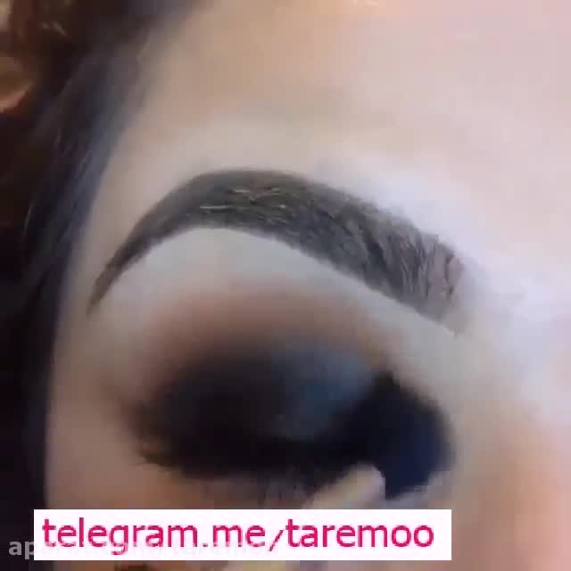 میکاپ زیبای چشم با سایه در تار مو