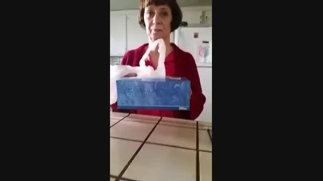 روشی خلاقانه برای مرتب کردن کیسه های پلاستیکی