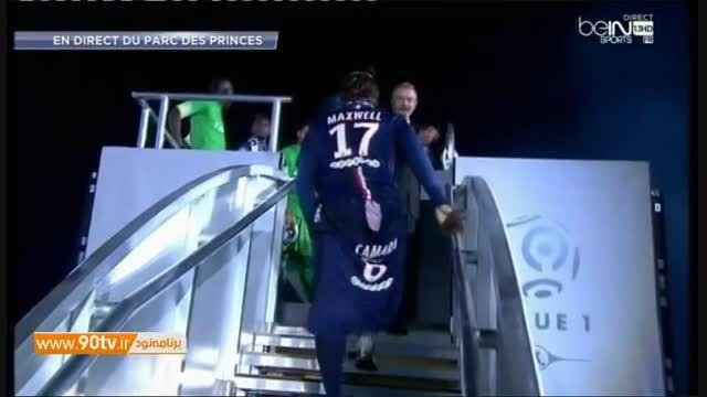 مراسم اهدای جام قهرمانی لیگ فرانسه به پی اس جی