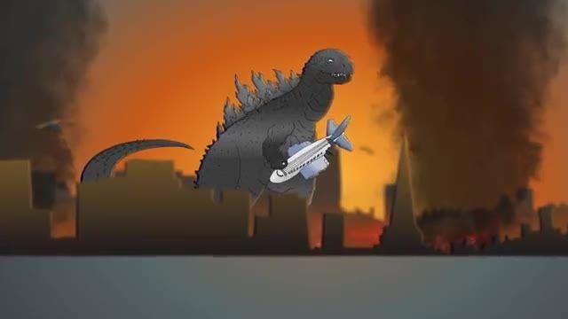 کارتون طنز و موزیکال گودزیلا 2014