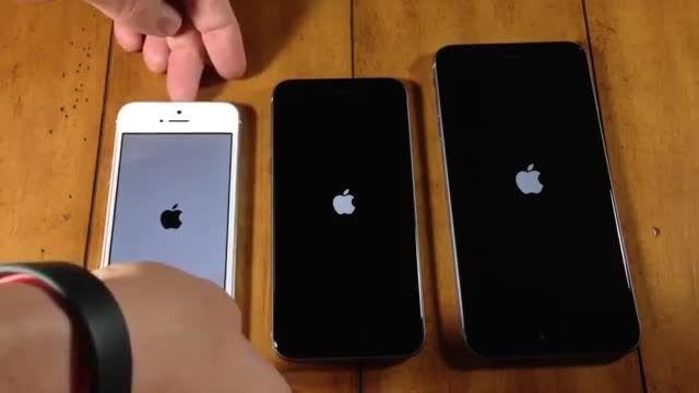iPhone 6 Plus vs iPhone 6 vs iPhone 5s Speed Test