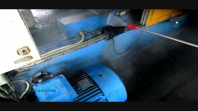 نظافت ماشین آلات صنعتی- جت آب صنعتی