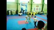 مسابقه مجتبی حاجی آبادی در کیوکوشین کاراته