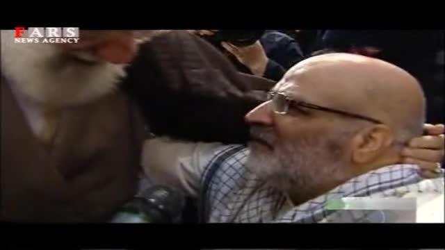 اشک  های جانبازان در آغوش رهبر انقلاب