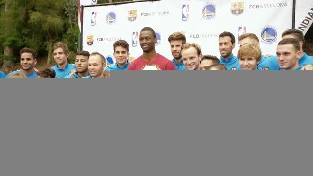 سر زدن ستاره NBA به تیم تمرینات بارسلونا در آمریکا