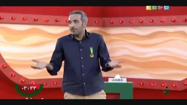 اجرای امیر مهدی ژوله در مرحله دوم مسابقه خنداننده برتر