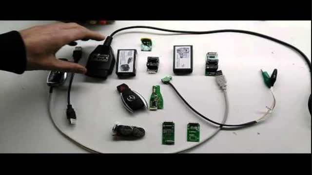 دستگاه تعریف کلید مرسدس بنز 204 و GL