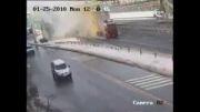 تصادف خیلی خطرناک