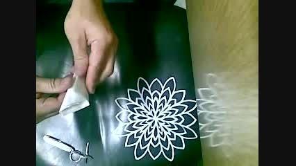 آموزش درست کردن گل کاغذی چینی با قیچی و تا برای تزیین