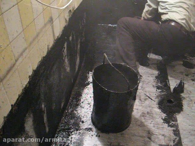 ایزولاسیون کف و دیوار حمام با توری و قیر (قسمت چهارم)