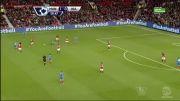 گل های بازی منچستر یونایتد 3 - 1 هال سیتی