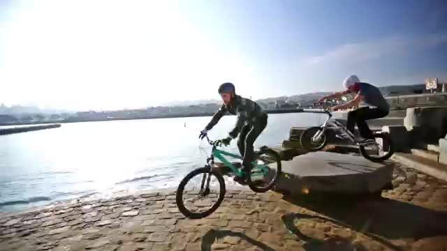 پارکور بازی دیدنی با دوچرخه در خیابان های سان فرانسیسکو
