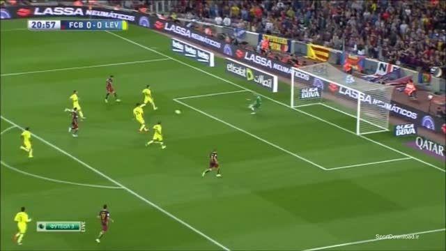 خلاصه بازی بارسلونا 4-1 لوانته
