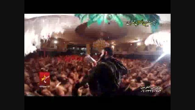 پسر شهید طهرانی مقدم درجلسه جواد مقدم