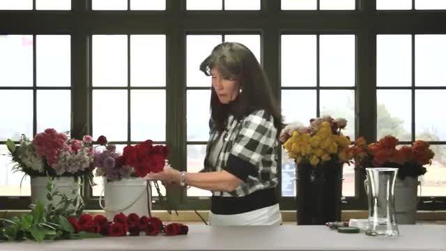 آموزش ساخت دسته گل عروس با گل رز