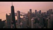 نمایی بسیار زیبا از بناها و برج های شهر شیکاگو..