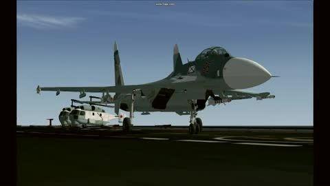 جنگنده سوخو 33 نیروی دریایی روسیه در شبیه ساز پرواز