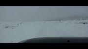 جاده زیبای توسکستان زمستان برفی