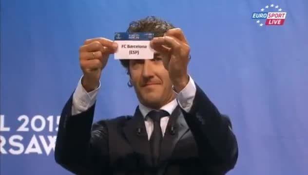مراسم قرعه کشی مرحله نیمه نهایی لیگ قهرمانان اروپا