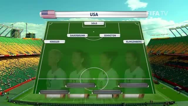ترکیب : آمریکا VS کلمبیا (جام جهانی زنان 2015 کانادا)