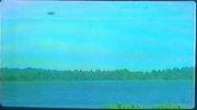 بشقاب پرنده در بالای دریاچه بسیار عجیب