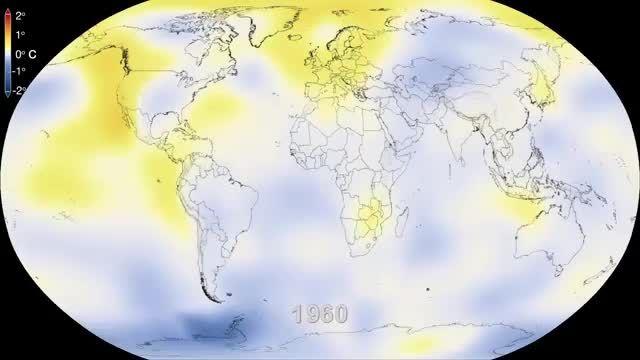ناسا   شش دهه از زمین گرمایش