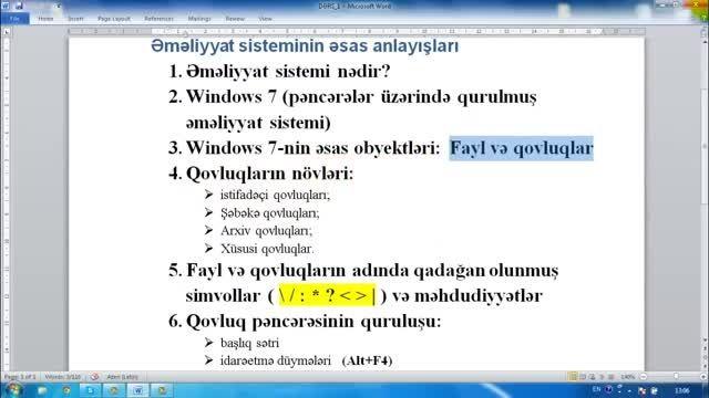 آموزش ۱ ویندوز 7 به ترکی آذربایجانی windows 7
