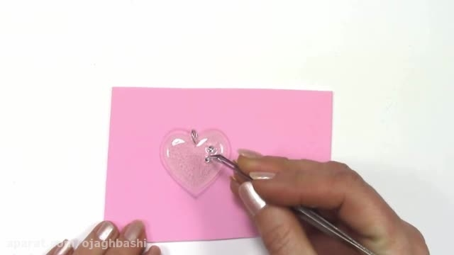 آویز قلب با چسب حرارتی