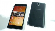 ---Sony Xperia Z2 vs Samsung Galaxy Note 3- first look - You